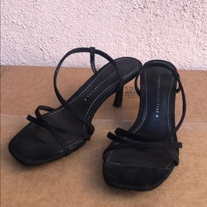 ZARA mid height heeled elastic sandals 38